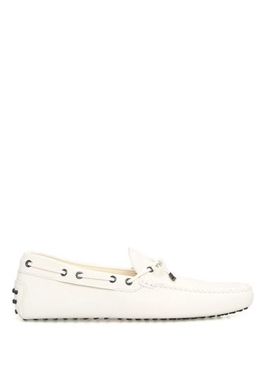 Tod's %100 Deri Loafer Ayakkabı Beyaz